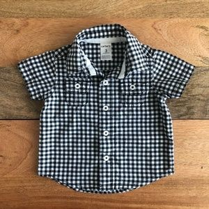Carter's Checkered button-down shirt 3m
